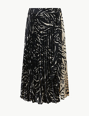 8b8ba372db Animal Print Pleated Skirt | M&S Collection | M&S