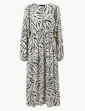 5815c08c46a Animal Print Relaxed Midi Dress
