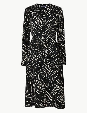 56f45321db82 Animal Print Shirt Dress | M&S Collection | M&S