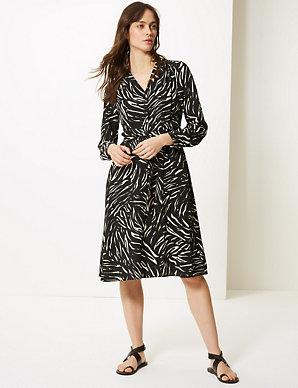 e1dce3dd11c7 Animal Print Shirt Dress | M&S Collection | M&S