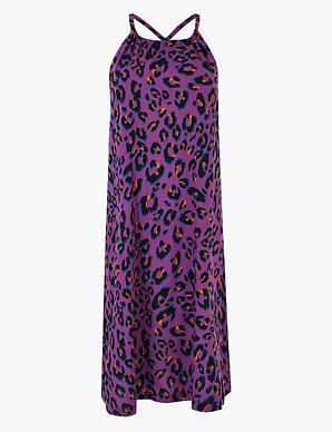 d6b8e10965f2 Animal Print Woven Slip Beach Dress | M&S Collection | M&S