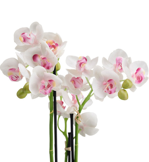 Artificial Orchid In Slate Vase M S