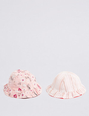 665dd609ae3 Baby 2 Pack Reversible Bucket Hats