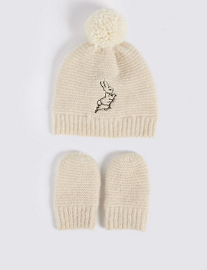 acf97920ee3 Product images. Skip Carousel. Baby Peter Rabbit trade  Hat   Mittens Set