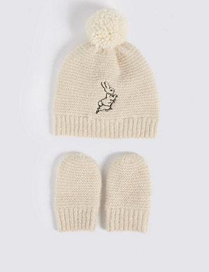 8b4feff9664b3 Baby Peter Rabbit trade  Hat   Mittens Set
