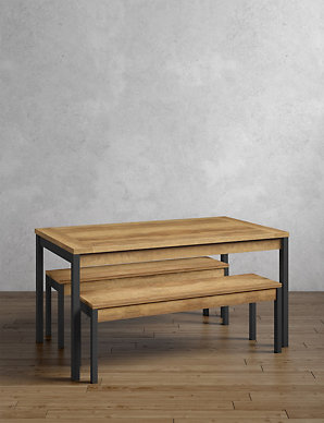 Baltimore Dining Table 2 Benches