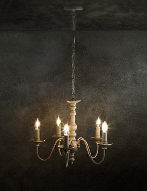 Beth Bare 5 Light Chandelier