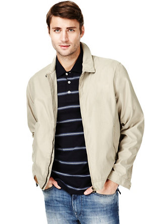 1382f7352 Big & Tall Classic Collar Harrington Jacket with Stormwear™ | M&S