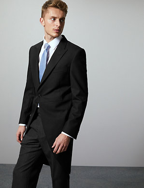 73fe2cd88 Black Regular Fit Wool Blend Morning Suit | M&S