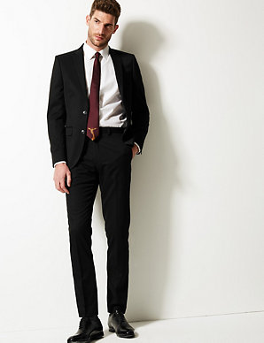 classic shoes comfortable feel discount for sale Black Slim Fit Suit | M&S