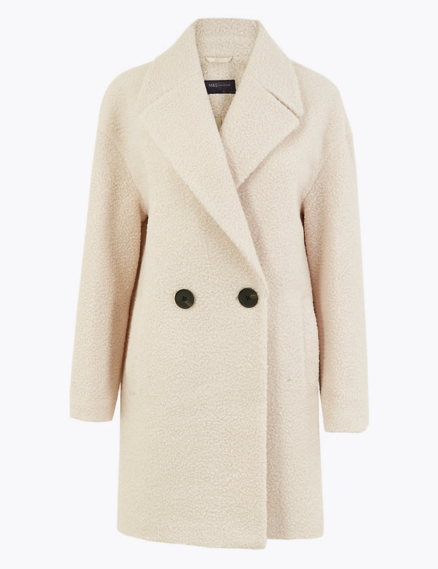 Bouclé Double Breasted Coat