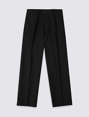 44e01af23f Boys' Longer Length Straight Leg Trousers