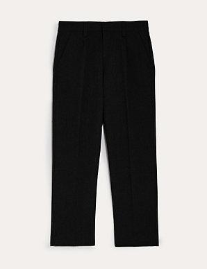 1cbb5c9c0ee Boys  Regular Leg Plus Fit Trousers