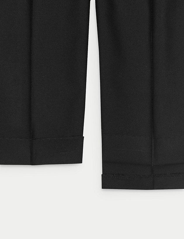 Off The High Street Boys Grey Longer Leg Straight Leg School Trousers