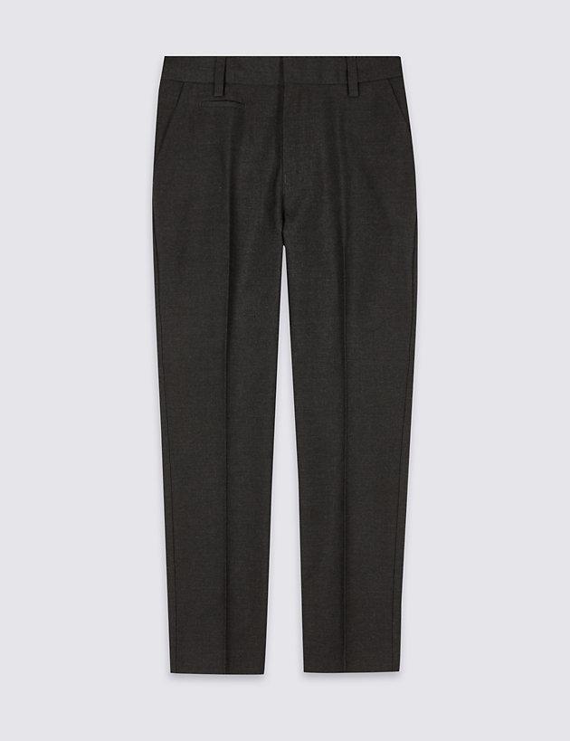 Boys' Skinny Leg Slim Fit Trousers