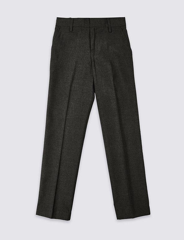 Marks /& Spencer 2 Pack Boys/' Slim Leg Trousers Age 11-12 Years BNWT £18.50 Grey