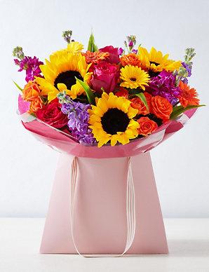 Bright Summer Flower Gift Bag | M&S