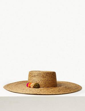 f3065d6c6 Brim Flat Top Sun Hat | M&S Collection | M&S