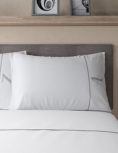 Alphabet Embroidered Letter Pillowcase