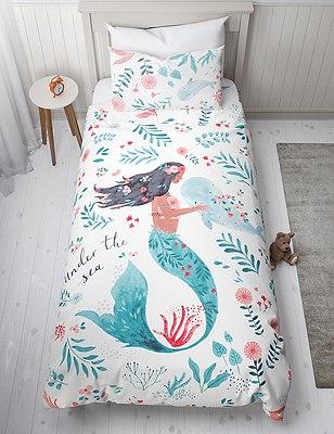 Mermaid Reversible Bedding Set Marks Spencer London