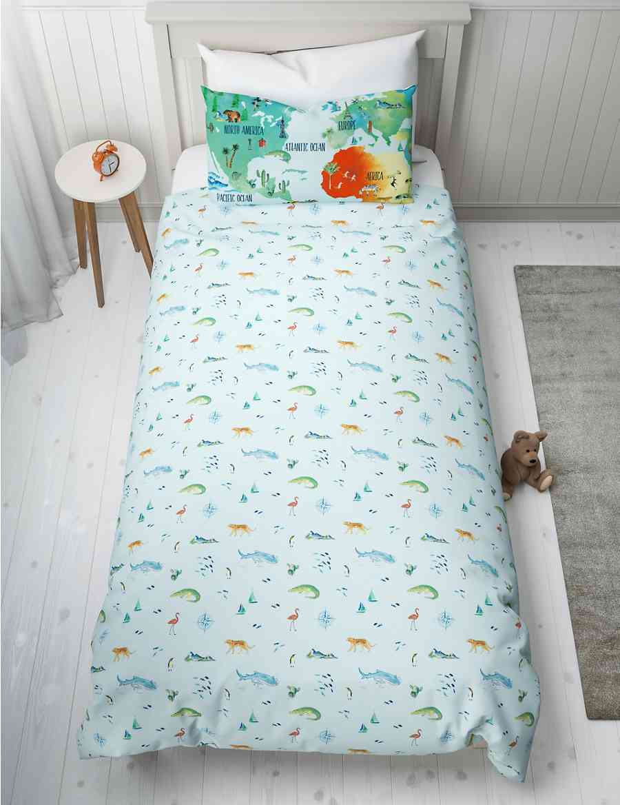 Map of the World Reversible Bedding Set | M&S