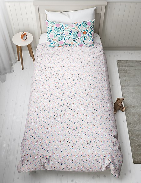 Floral Reversible Bedding Set