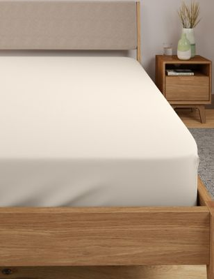 M/&S 100/% Egyptian Cotton 230 Thread Count GREEN FLAT Sheet KING SIZE STAY NEW