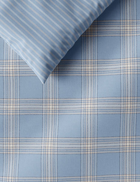 Spring Check Brushed Cotton Bedding Set