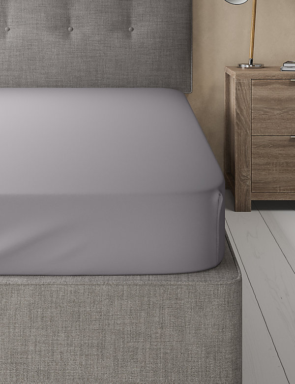 Cotton Rich Percale Fitted Sheet