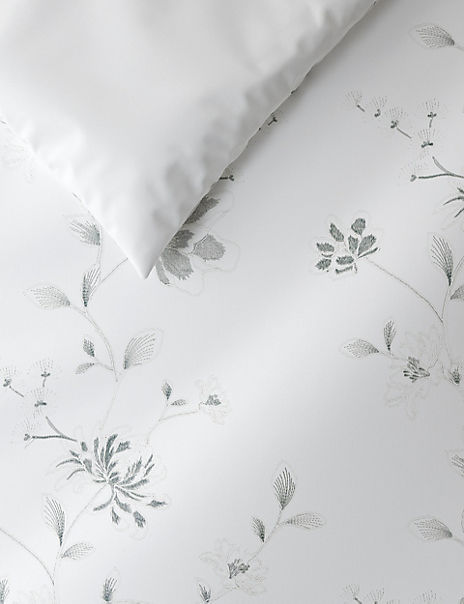 Floral Cord Embroidered Bedding Set