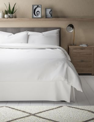 Edles Volant-Bettlaken aus Supima®-Baumwollsatin (Fadenzahl 750)