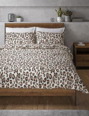 Ropa de cama de leopardo con mezcla de algodón