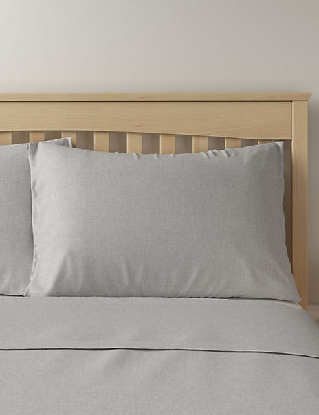 2 Pack Brushed Cotton Pillowcases