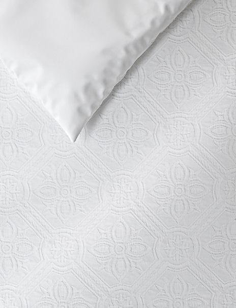 Pure Cotton Floral Matelassé Bedding Set