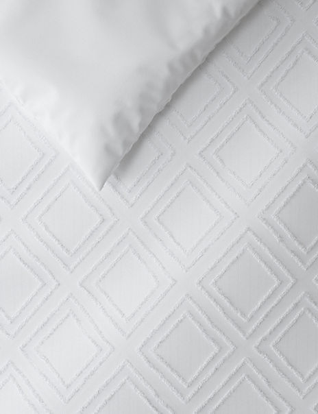Cut Square Cotton Bedding Set