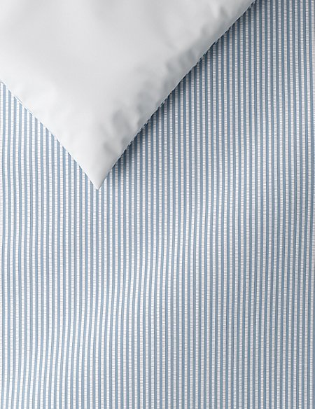 Micro Striped Seersucker Bedding Set