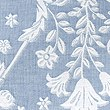 Casual Floral Jacquard Bedding Set, SMOKEY BLUE, swatch