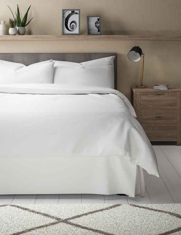 Lower Price with Luxury 100% Egyptian Cotton Fitted Bed Sheet 400 Thread Count Single Double King Pure White And Translucent Home, Furniture & Diy Bedding