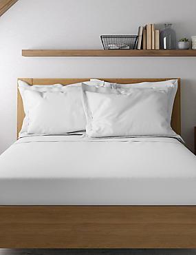 Pure Cotton 600 Thread Count Sateen Oxford Pillowcase