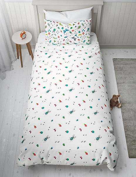 Bugs Glow in the Dark Reversible Bedding Set