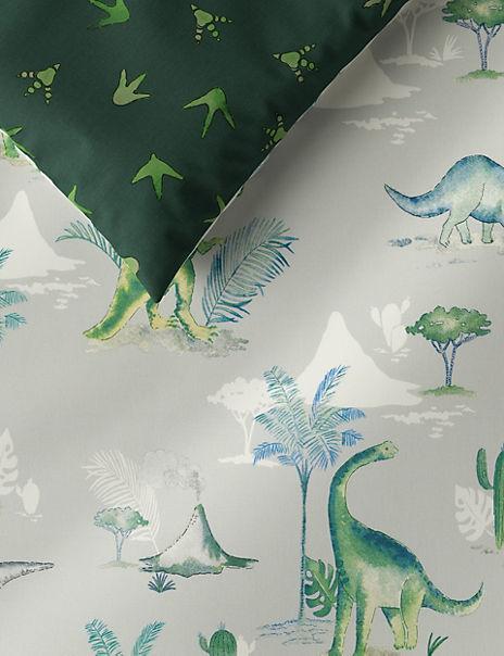 Dinosaur Print Reversible Bedding Set