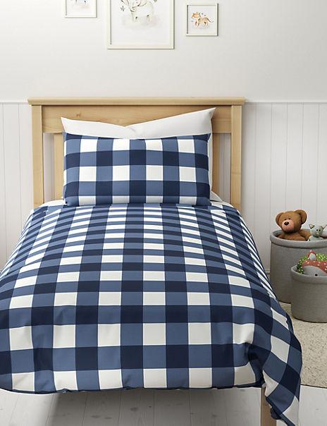 Gingham Check Bedding Set