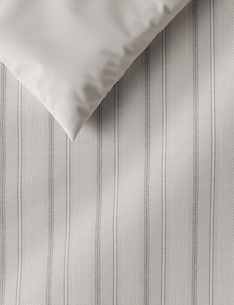 Cotton Textured Weave Striped Bedding Set