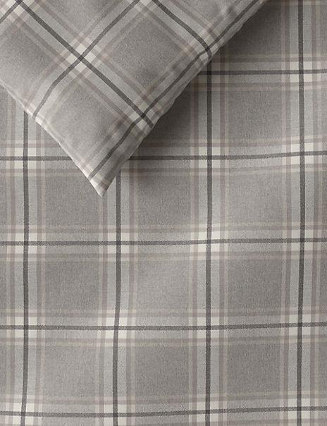 Vintage Check Brushed Cotton Bedding Set