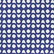 Hardy Simple Geometric Print Bedding Set, BLUE, swatch