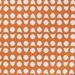 Parure de lit à imprimé géométrique simple Hardy, ORANGE BRÛLÉ, swatch