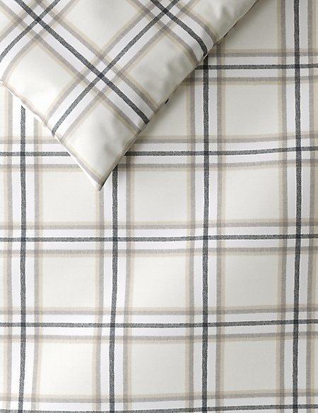 Brushed Herringbone Checked Bedding Set