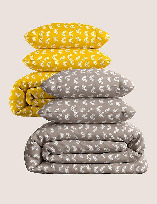 2 Pack Cotton Mix Rainbow Bedding Sets