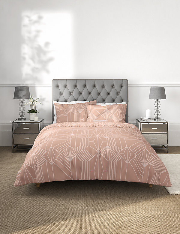 Pure Cotton Geometric Jacquard Bedding Set