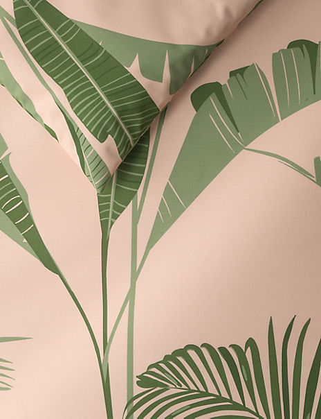 Exotic Palm Printed Bedding Set